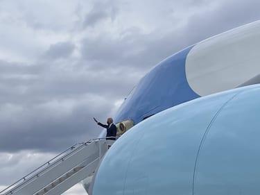 Joe Biden Air Force One 31 marzo 2021