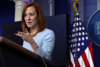 WASHINGTON, DC - FEBRUARY 10:  White House Press Secretary Jen Psaki speaks during a news briefing at the James Brady Press Briefing Room of the White House February 10, 2021 in Washington, DC. Psaki held a news briefing to answers questions from the members of the press.  (Photo by Alex Wong/Getty Images)