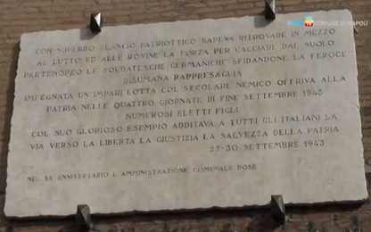Quattro Giornate di Napoli, restaurata la lapide al Maschio Angioino