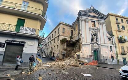 Napoli, crolla appartamento attiguo alla chiesa del Rosariello