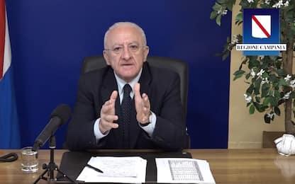 Covid, De Luca: Se vaccini tardano Campania non sarà immune per estate