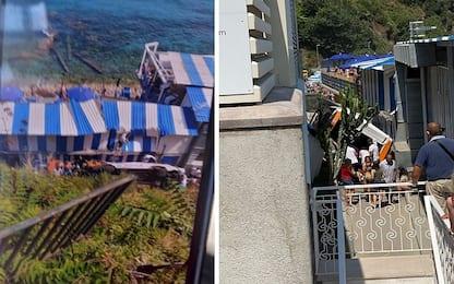 Capri, bus precipita su stabilimento balneare: un morto, feriti. VIDEO