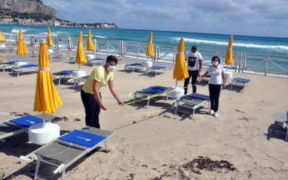 Coronavirus Sicilia, a Mondello stagione balneare riparte con maltempo