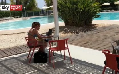 A Siracusa smart working in un resort sul mare. VIDEO