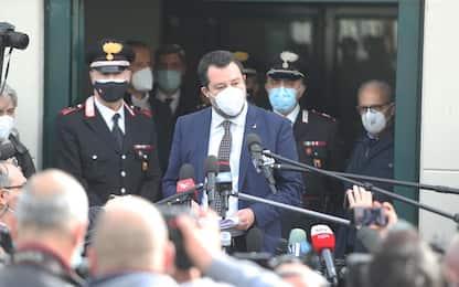 """Caso Open Arms, Salvini all'udienza: """"Due migranti ora sono in galera"""""""