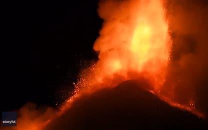Eruzione Etna, getti di lava fino a 1.500 metri di altezza. VIDEO