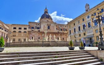 Un'immagine de centro a Palermo, 1 maggio 2020. ANSA
