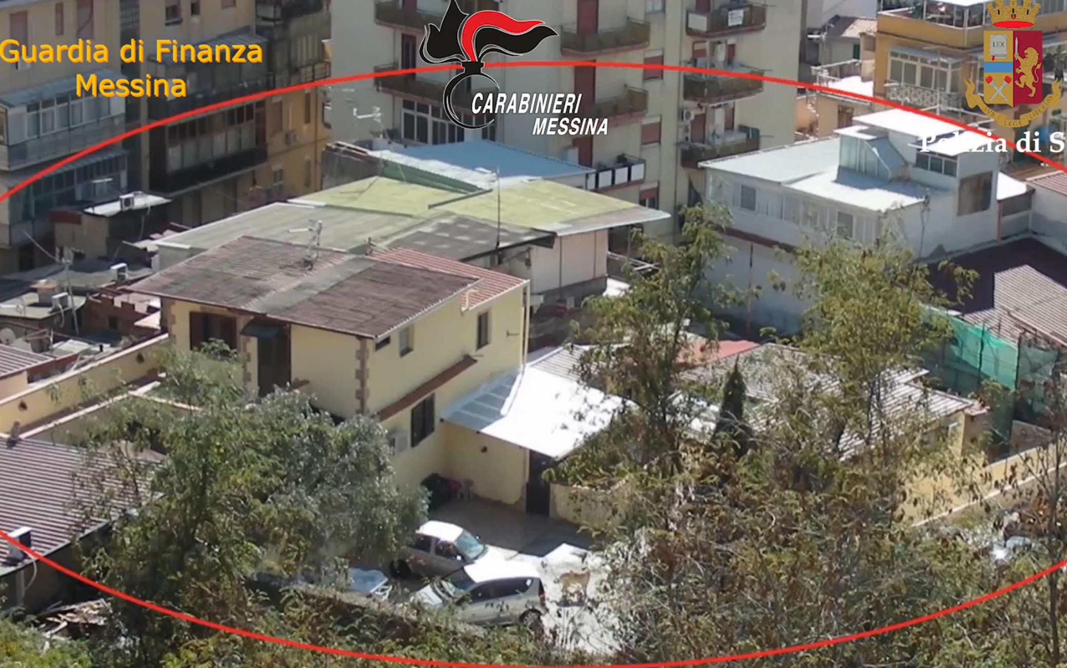 Un fermo immagine tratto da un video dell'operazione