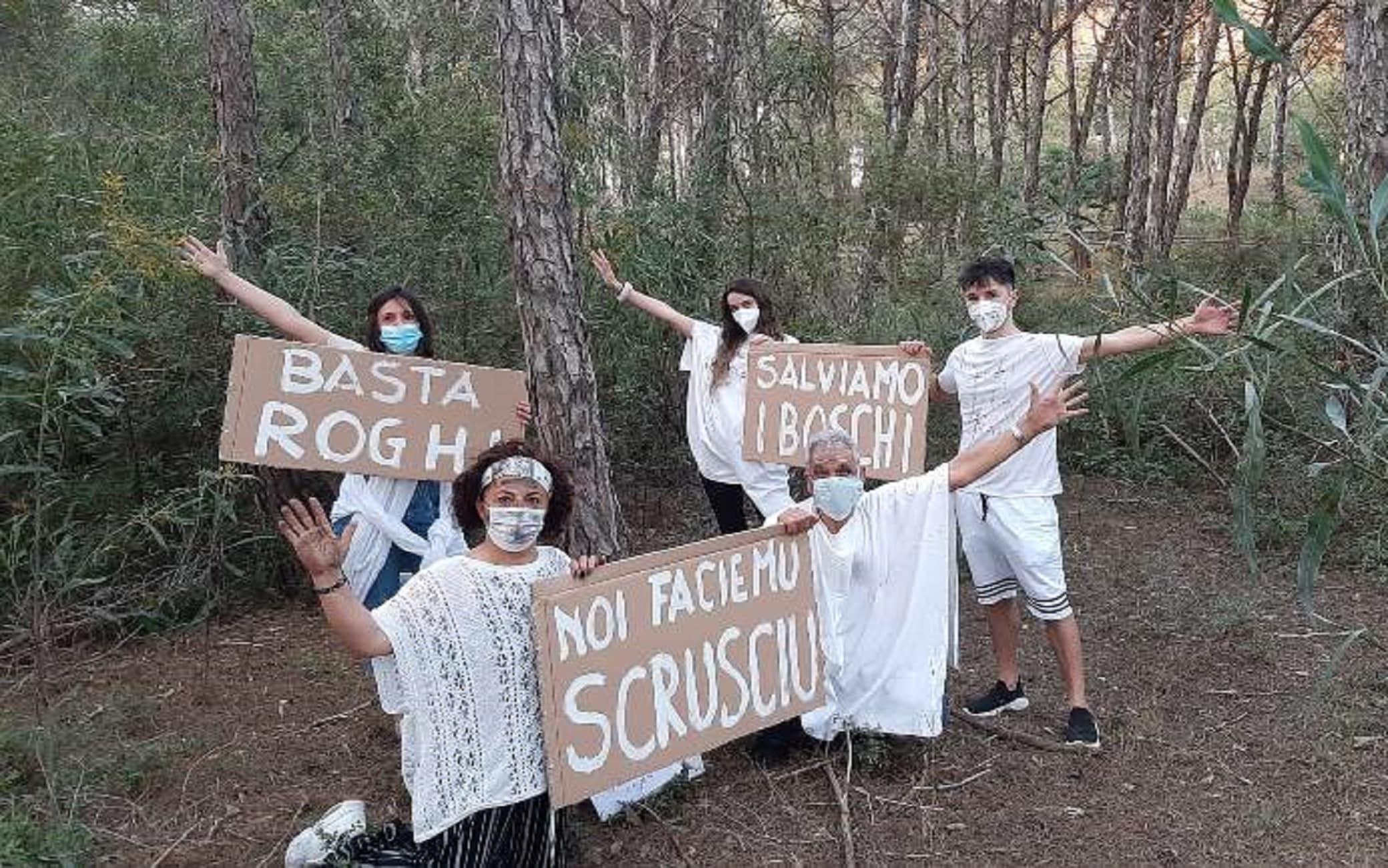 Una delle iniziative contro gli incendi boschivi