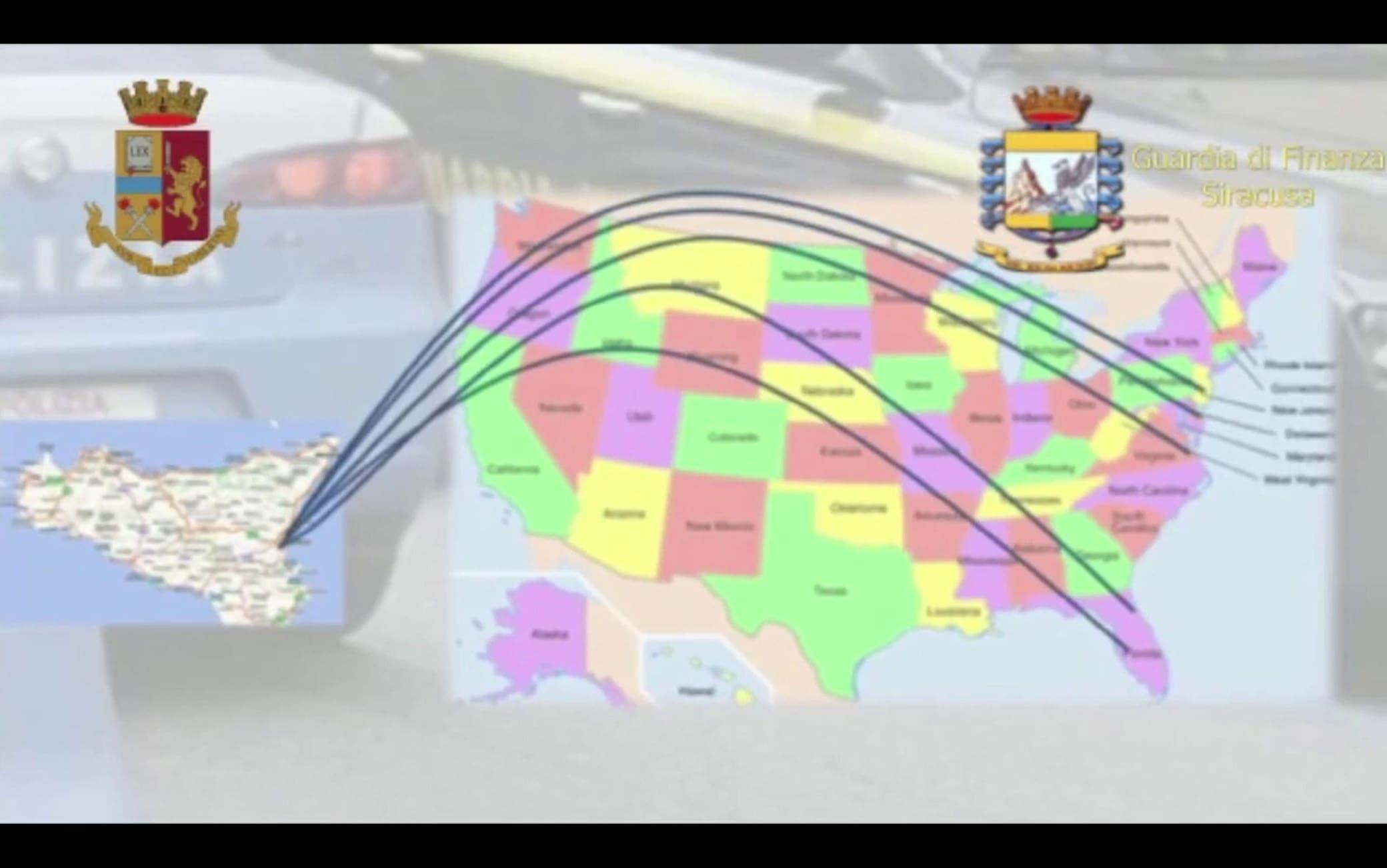 Un fermo immagine tratto da un video mostra un momento dell'operazione  della Polizia di Stato e della Guardia di Finanza, denominata 'Fast shipping', contro un traffico di stupefacenti tra Italia e Stati Uniti, 19 maggio 2021. ANSA/ UFFICIO STAMPA ++HO - NO SALES EDITORIAL USE ONLY++