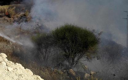 Incendio nell'Area archeologica delle Cave di Cusa