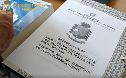Messina, maxi evasione su scommesse online: sequestrati 3,5 milioni