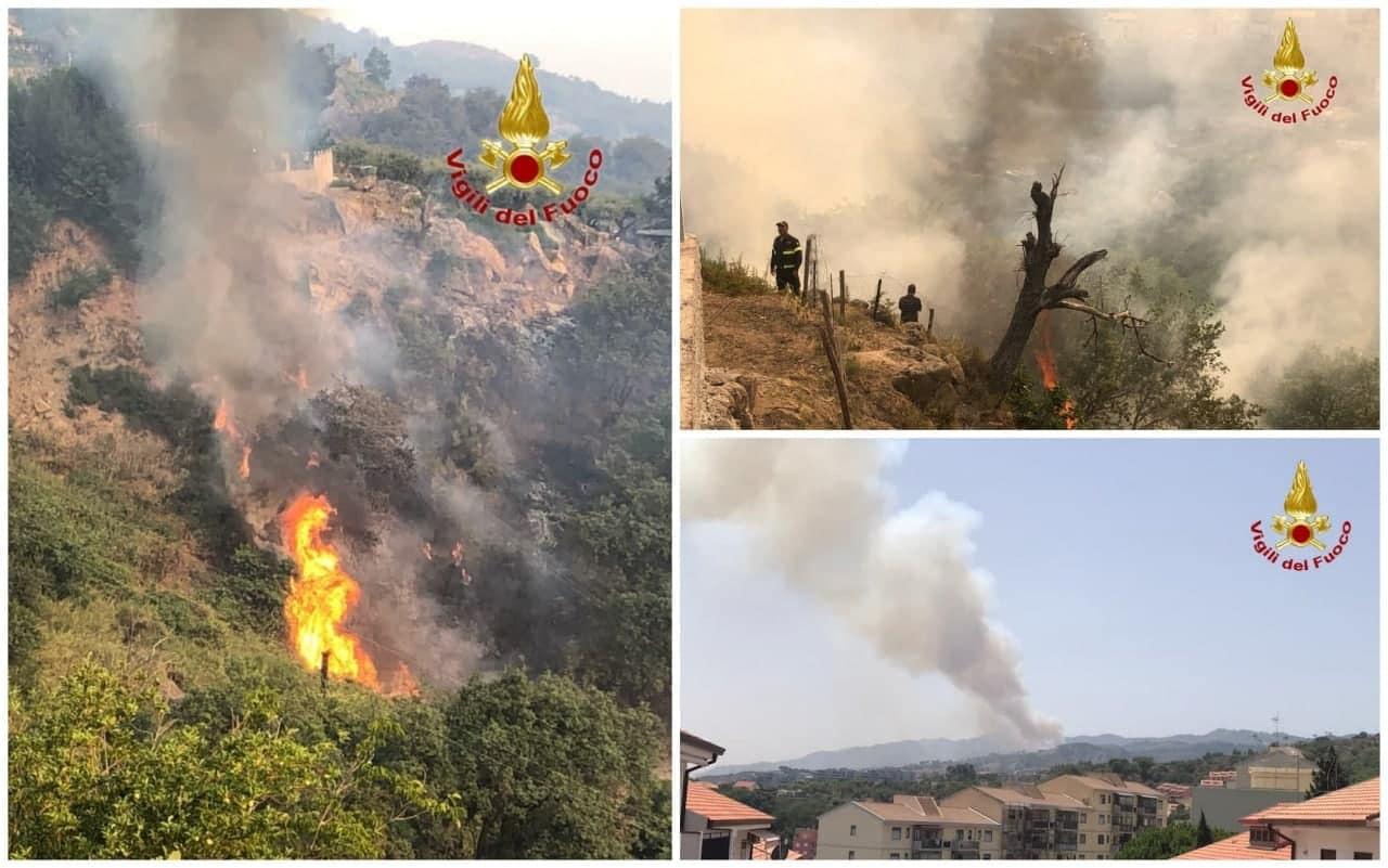 Gli incendi nel Messinese