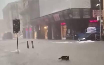 Maltempo a Catania, allagate le strade e piazza Duomo