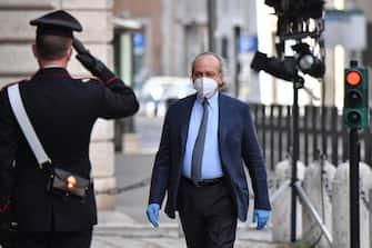 Nitto Palma arriva a palazzo Madama per la seduta del Senato in cui si voterà la sfiducia individuale al ministro della Giustizia Alfonso Boanfede, Roma 20 maggio 2020. ANSA/ALESSANDRO DI MEO