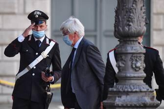Paolo Romani arriva a palazzo Madama per la seduta del Senato in cui si voterà la sfiducia individuale al ministro della Giustizia Alfonso Boanfede, Roma 20 maggio 2020. ANSA/ALESSANDRO DI MEO