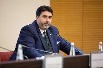 Cristian Solinas, presidente Regione Sardegna, in una recente immagine d'archivio. ANSA/FABIO MURRU