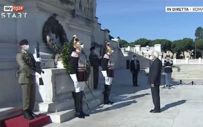 2 giugno: Mattarella all'Altare della Patria: cerimonia senza parata