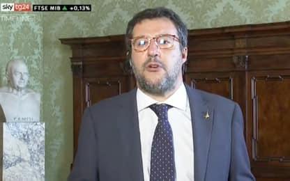 """Salvini a Sky TG24: """"Assurdo limite a uso contante"""""""