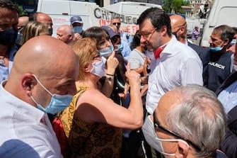 Salvini manifestazione