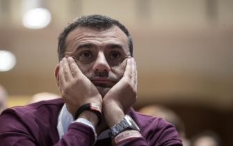 Il sindaco di Bari Antonio Decaro durante l'incontro dei sindaci del Pd, 27 ottobre 2019.ANSA/MASSIMO PERCOSSI