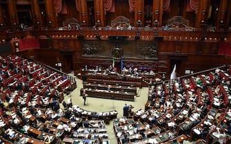 L' aula della Camera durante le dichiarazioni di voto finale sul Dl Rilancio, Roma, 9 luglio 2020. ANSA/ALESSANDRO DI MEO