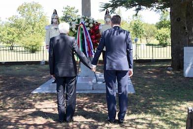 Trieste, Mattarella con il presidente sloveno Pahor a Basovizza