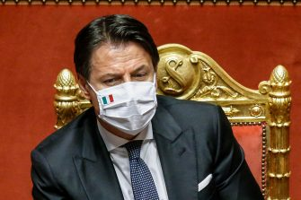 Italian Premier, Giuseppe Conte, at the Senate during a debate on further measures to combat the spread of Covid-19, Rome, Italy, 28 July 2020. ANSA/FABIO FRUSTACI