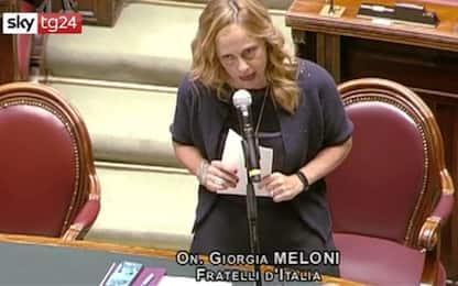 Giorgia Meloni contro Conte: il discorso in Parlamento. VIDEO