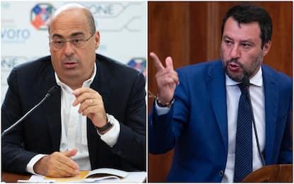 Zingaretti: Ci sono scellerati senza mascherina. Polemica con Salvini