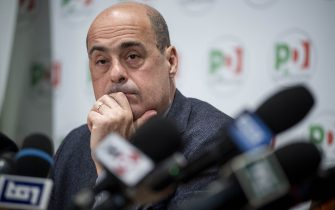 """ROME, ITALY - FEBRUARY 13: General Secretary of Democratic Party (PD) Nicola Zingaretti attends a press conference organized by the Democratic Party about """"A Plan for Italy"""", on February 13, 2020, in Rome, Italy. (Photo by Antonio Masiello/Getty Images)"""