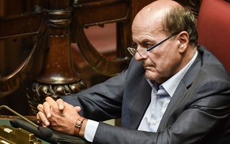 Member of Parliament from the Dmocratic Party (PD), Pier Luigi Bersani attends on September 9, 2019 the new government confidence vote at the lower house of parliament in Rome. (Photo by Andreas SOLARO / AFP)        (Photo credit should read ANDREAS SOLARO/AFP via Getty Images)