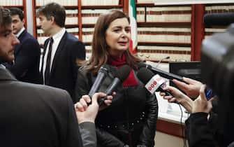 Laura Boldrini durante il convegno Pd ''Per la dignita' delle persone'', Roma, 16 dicembre 2019. ANSA/GIUSEPPE LAMI