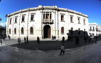 Il municipio di Reggio Calabria  ?  Esterno di Palazzo san Giorgio di Reggio Calabria -  Reggio Calabria, 14 maggio 2018 ? ANSA/QdS