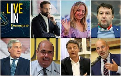 Sky TG24 LIVE IN a Courmayeur, dibattito acceso tra i leader politici