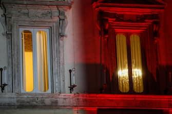 L'esterno di palazzo Chigi durante delle riunioni in vista del nuovo provvedimento sulle restrizioni per contrastare la diffusione del Covid-19 da adottare dopo il 7 gennaio, Roma, 4 gennaio 2021. ANSA/FABIO FRUSTACI