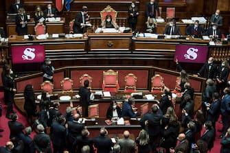 Giuseppe Conte al Senato
