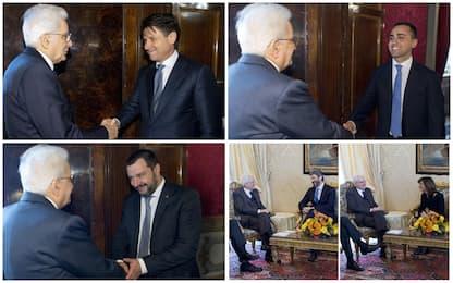 Le consultazioni di Mattarella, tutti i precedenti