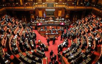 Voto finale sul ddl di bilancio 2021, Senato, Roma 30 dicembre 2020. ANSA / FABIO FRUSTACI