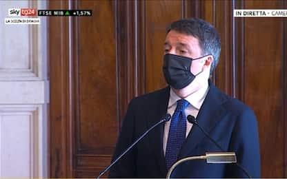 """Consultazioni, Matteo Renzi: """"Sosterremo Draghi, è polizza sul futuro"""""""
