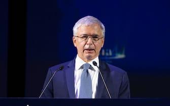 LÕintervento del Presidente IVASS, Daniele Franco, alla Assemblea annuale 2020 dellÕAnia a Roma, 19 ottobre 2020.    MAURIZIO BRAMBATTI/ANSA
