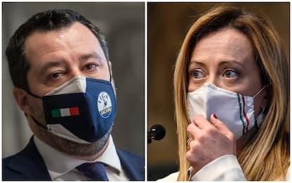Governo Draghi, nel centrodestra Salvini e Meloni su posizioni diverse