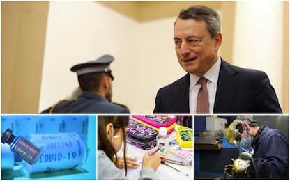Governo Draghi: nell'agenda priorità a vaccini, lavoro e scuola