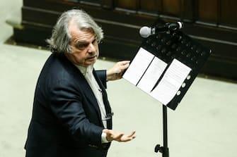 Renato Brunetta, Forza Italia, durante la seduta della Camera dei deputati riunita per discutere e votare lo scostamento di bilancio ed il Nadef, Roma 14 ottobre 2020. ANSA/FABIO FRUSTACI
