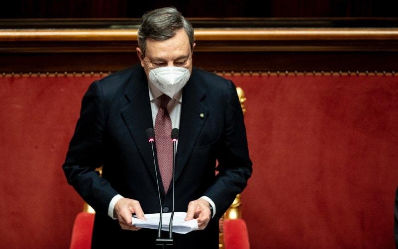 Il discorso di Draghi al Senato - cover