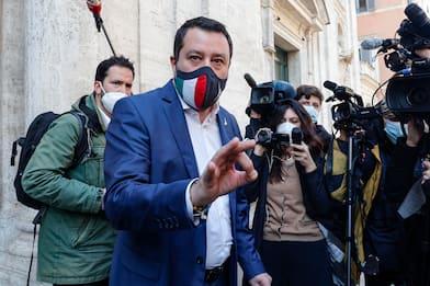 Covid, Salvini incontra Draghi a Palazzo Chigi: parlato di riaperture