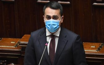 Foreign Minister Luigi Di Maio during the briefing on the killing of the Italian Ambassador Luca Attanasio and the Carabiniere Vittorio Iacovacci in Congo, in the Chamber of Deputies in Rome, Italy, 24 February 2021. ANSA / ETTORE FERRARI