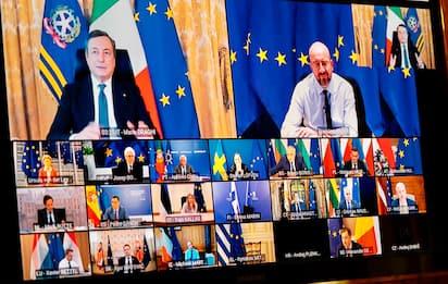 Covid, Draghi al vertice Ue: accelerare sui vaccini