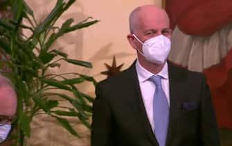 Franco Gabrielli durante la cerimonia di giuramento dei sottosegretari del governo Draghi