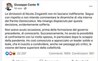 Dimissioni Zingaretti, le reazioni